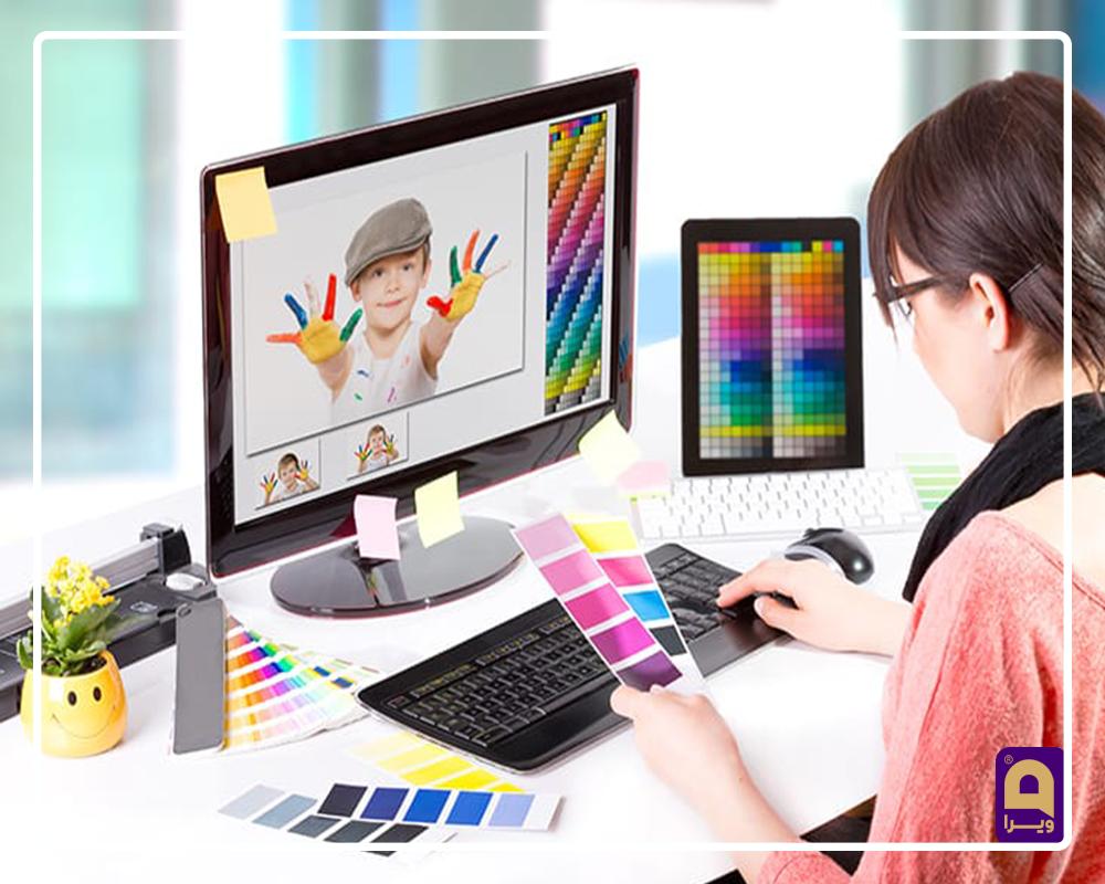 طراحی بصری سایت